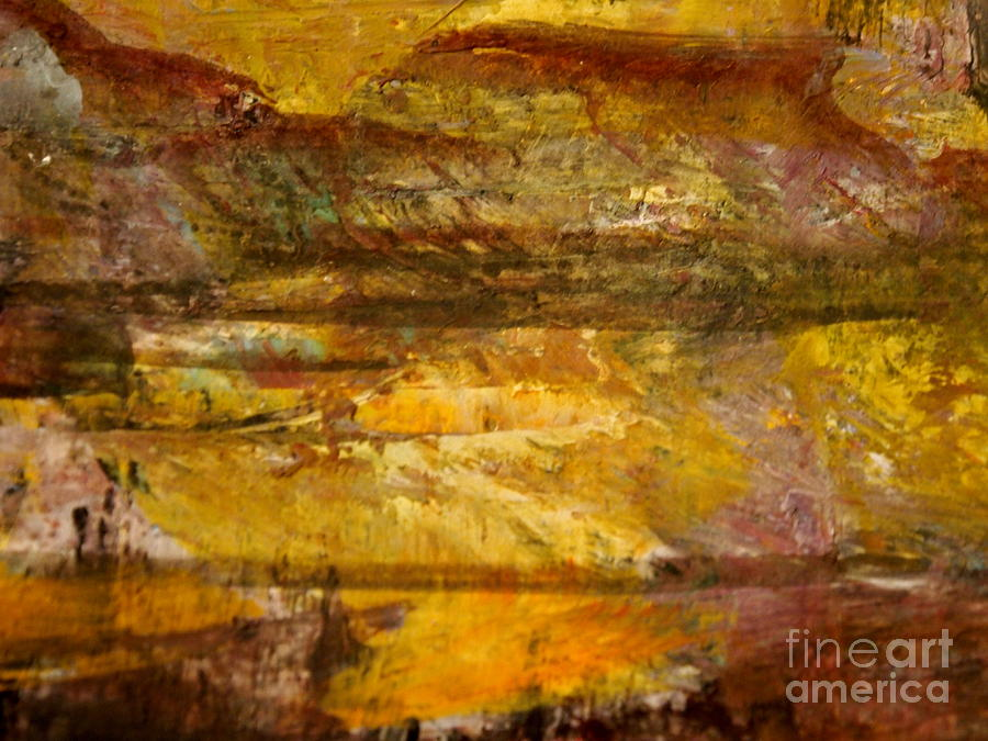 Gold Painting - The Gold Light by Nancy Kane Chapman