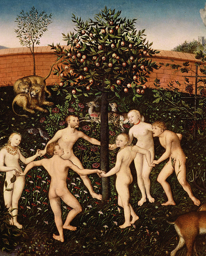 The Painting - The Golden Age by Lucas Cranach