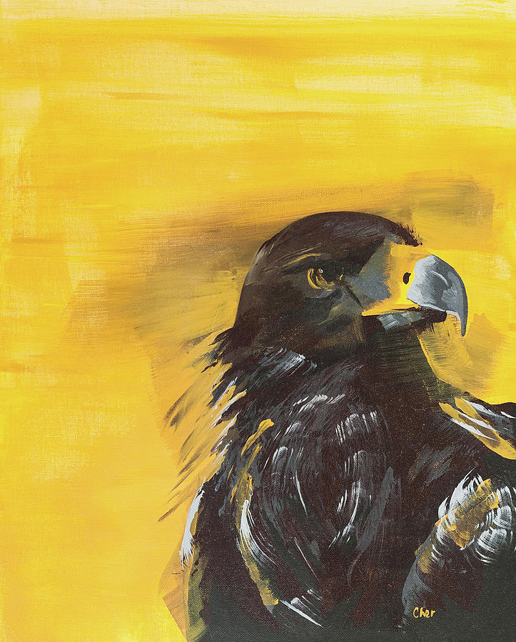 Bird Painting - The Golden Eagle by Cheryl Phillips