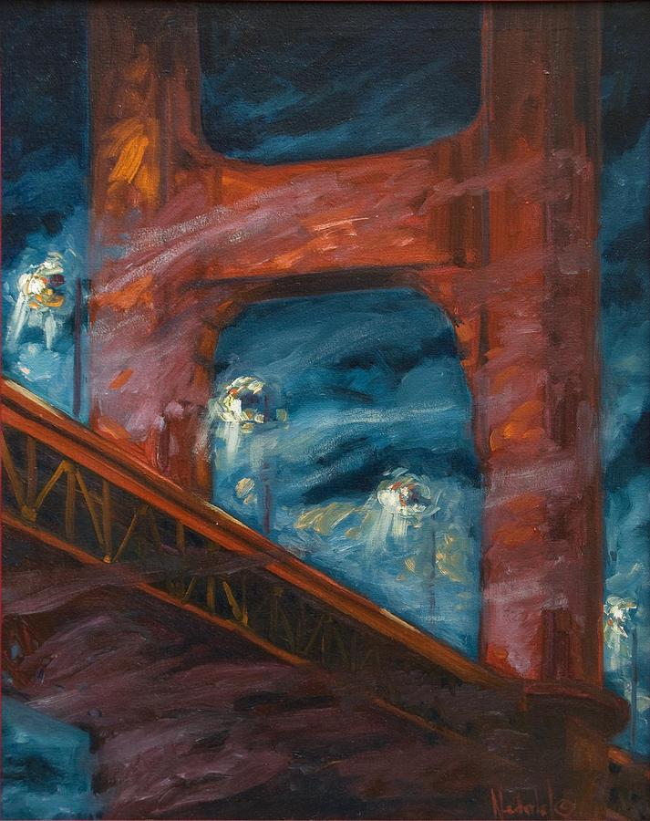 Bridge Painting - The Golden Gate by Rick Nederlof