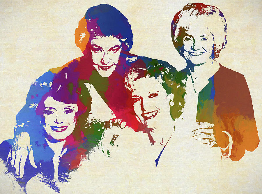 The Golden Girls Painting - The Golden Girls by Dan Sproul