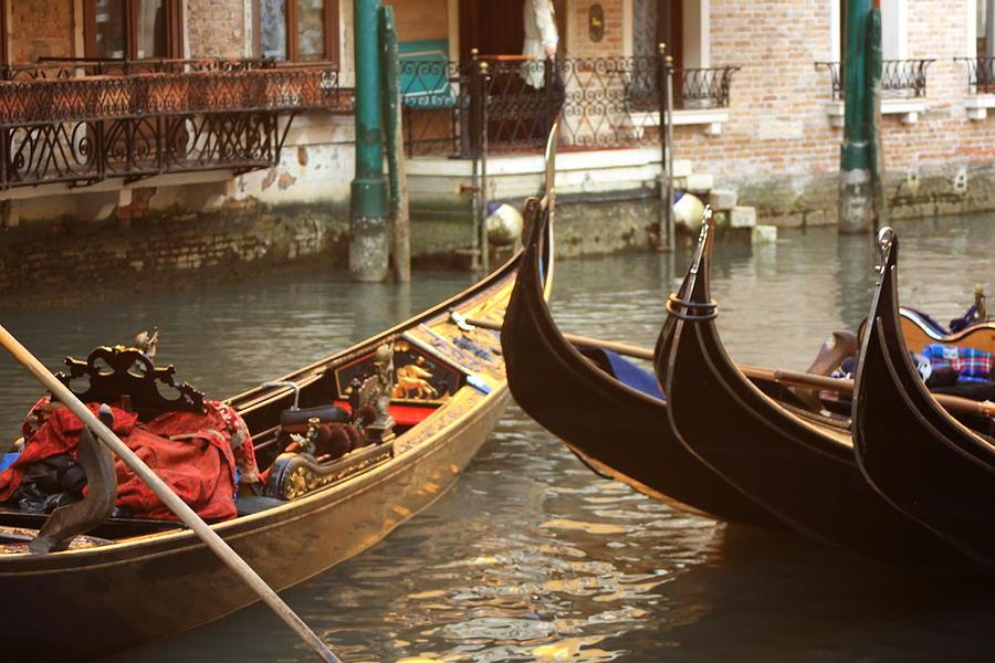 Venice Photograph - The Golden Gondola by Michael Henderson