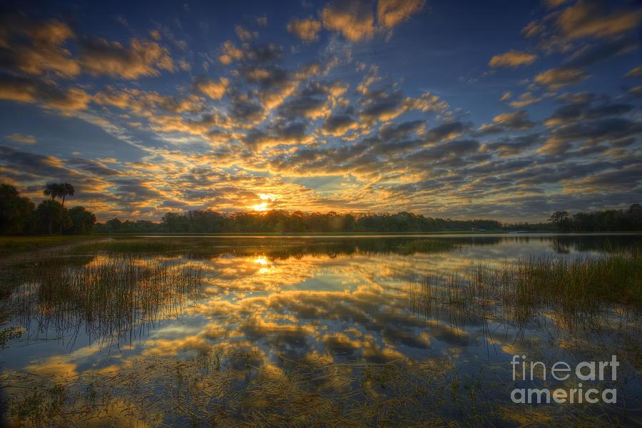 Sunrise Photograph - The Golden Hour by Rick Mann