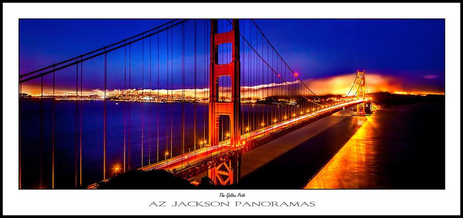 Golden Gate Bridge Photograph - The Golden Path Poster Print by Az Jackson