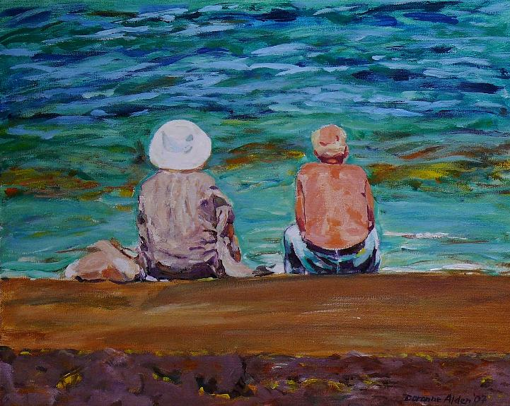 People Painting - The Golden Years by Doranne Alden