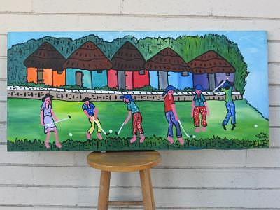 Golf Play Painting - The Golf Play by Duncan Roseme