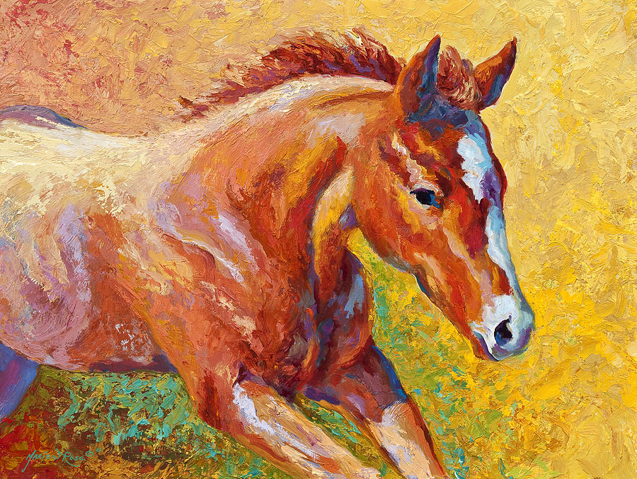 Horses Painting - The Good Life by Marion Rose