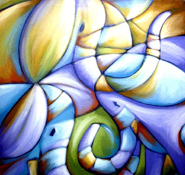 Elephants Painting - The Good Listeners by Anthony Butkovich