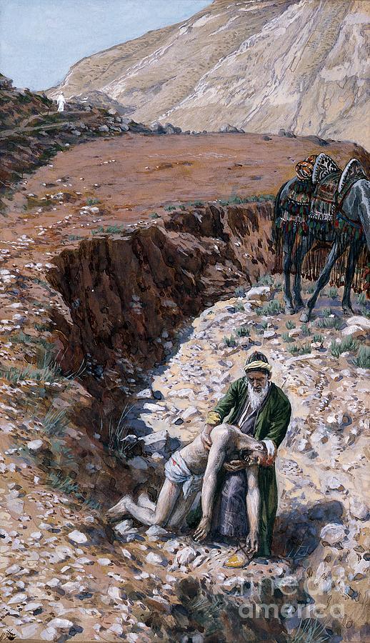 The Painting - The Good Samaritan by Tissot