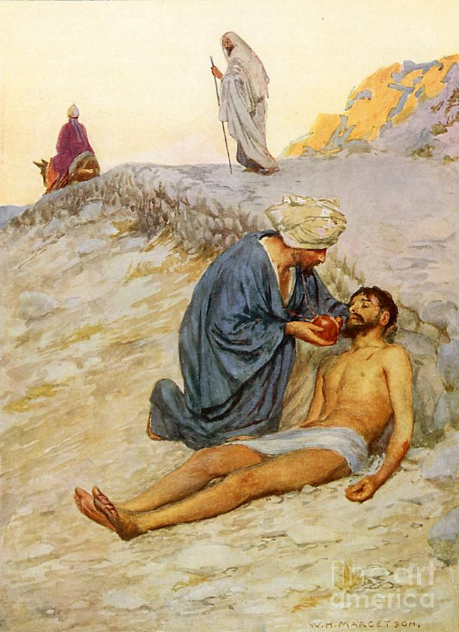 Bible Painting - The Good Samaritan by William Henry Margetson