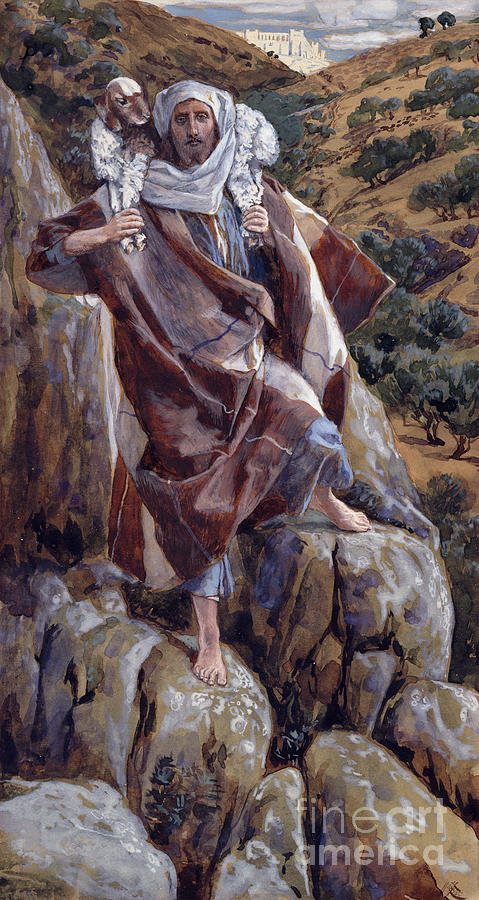 The Painting - The Good Shepherd by Tissot