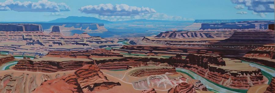 Oil Painting - Dead Horse Point, Moab Utah by Allen Kerns