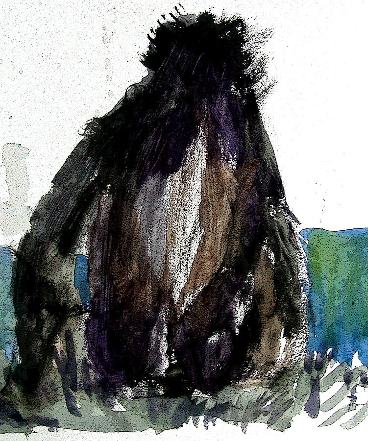 Ape Painting - The Gorilla Snub by Mindy Newman