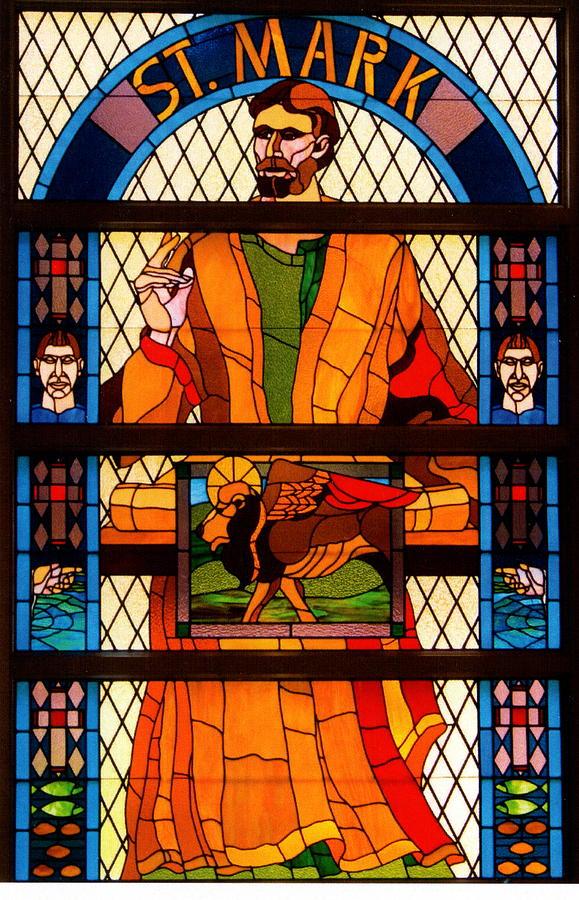 The Gospel Of St.mark Glass Art by Alan Carlson