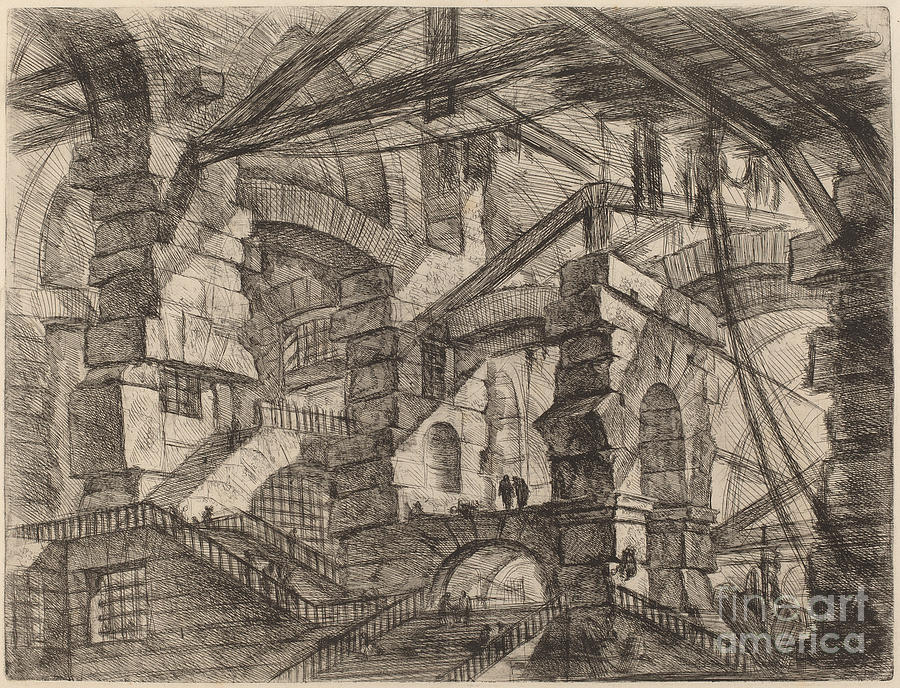 The Gothic Arch Drawing By Giovanni Battista Piranesi