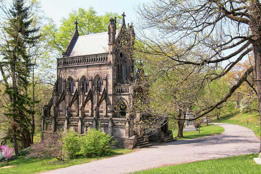 Gothic Photograph - The Gothic Temple In Spring Grove Cemetery by Phyllis Taylor