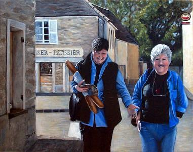 France Painting - The Gourmets by Darr Sandberg