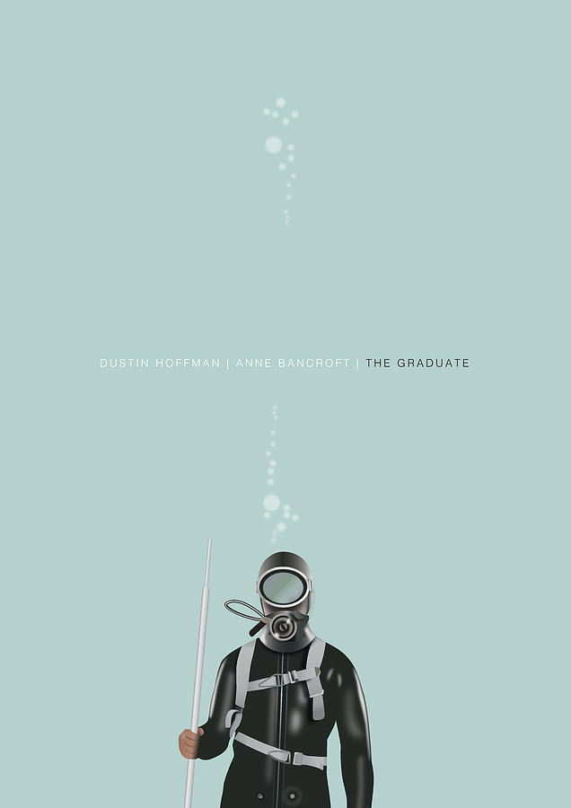 The Graduate Digital Art - The Graduate - Alternative Movie Poster by Movie Poster Boy