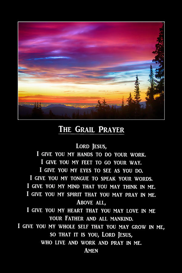 The Grail Prayer Photograph By James Bo Insogna