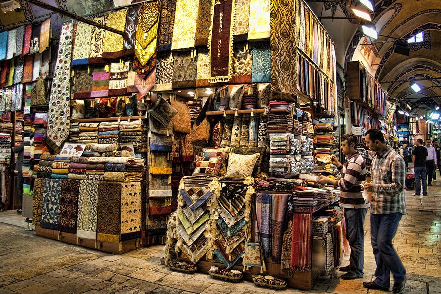 Turkey Photograph - The Grand Bazaar In Istanbul Turkey by David Smith