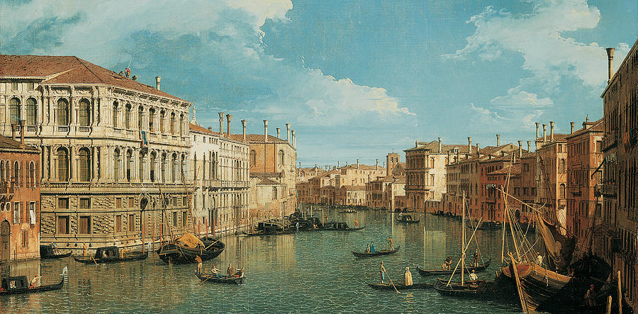 Canaletto Painting - The Grand Canal by Canaletto
