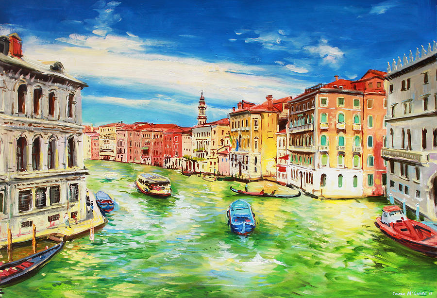 Venice Painting - The Grand Canal Venice  by Conor McGuire