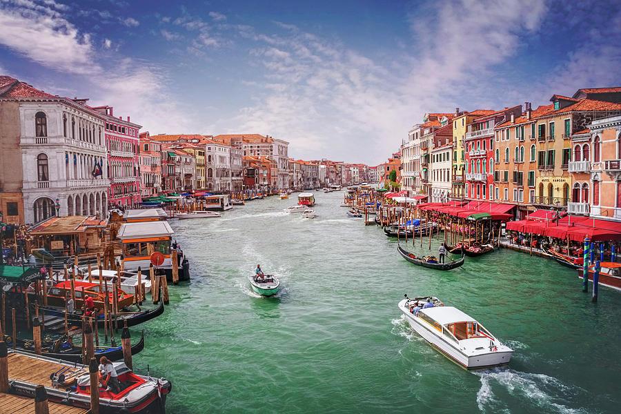 Venice Photograph - The Grand Canal Venice Italy  by Carol Japp