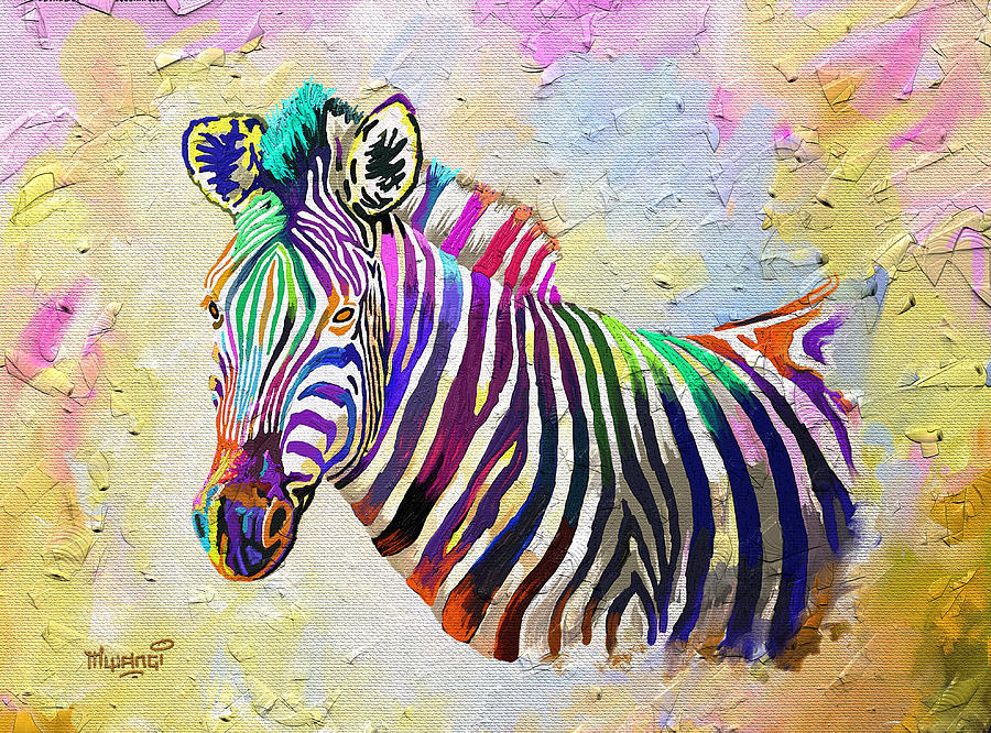 Kenya Painting - The Grand Donkey by Anthony Mwangi