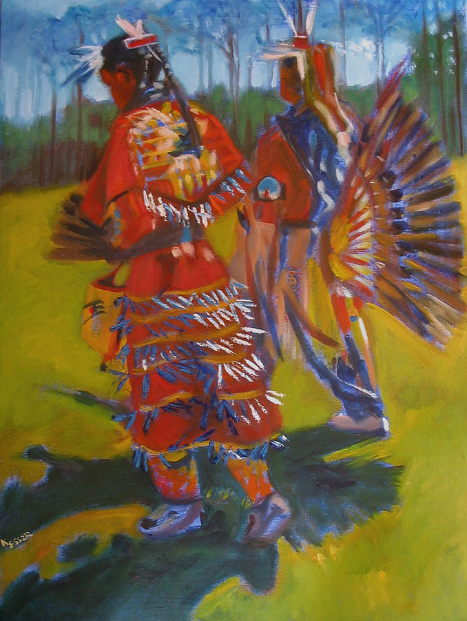 Native American Painting - The Grand Promonade by Kaytee Esser