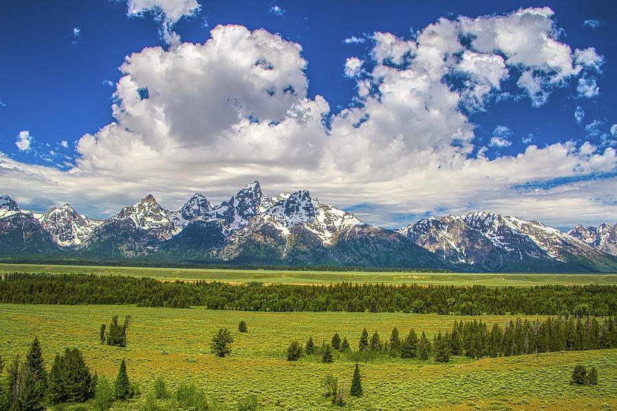 Tetons Photograph - The Grand Tetons by Kyle Field
