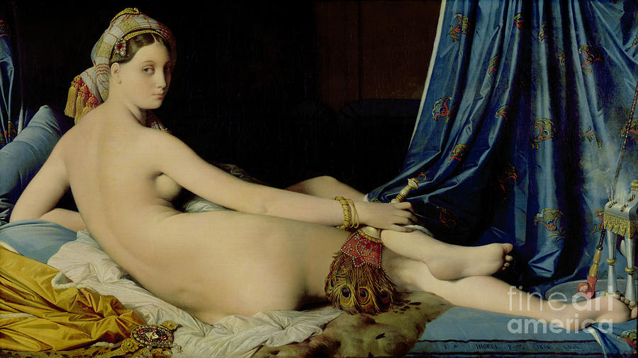 The Painting - The Grande Odalisque by Ingres