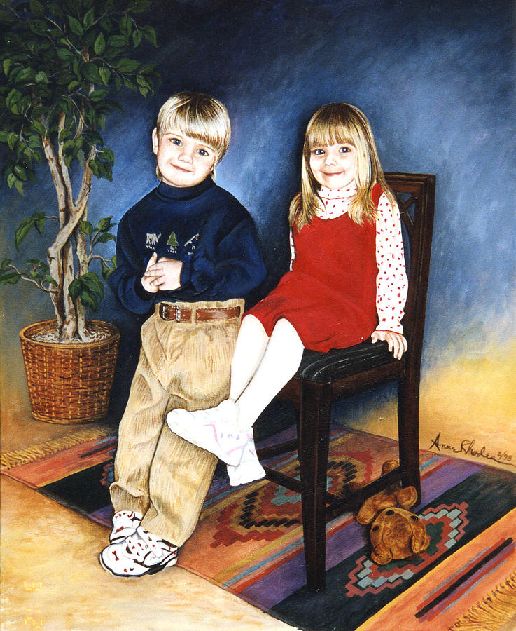 Portrait Painting - The Grands by Anne Rhodes