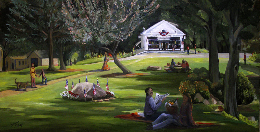 Memorial Day Painting - The Granville Green by Nancy Griswold