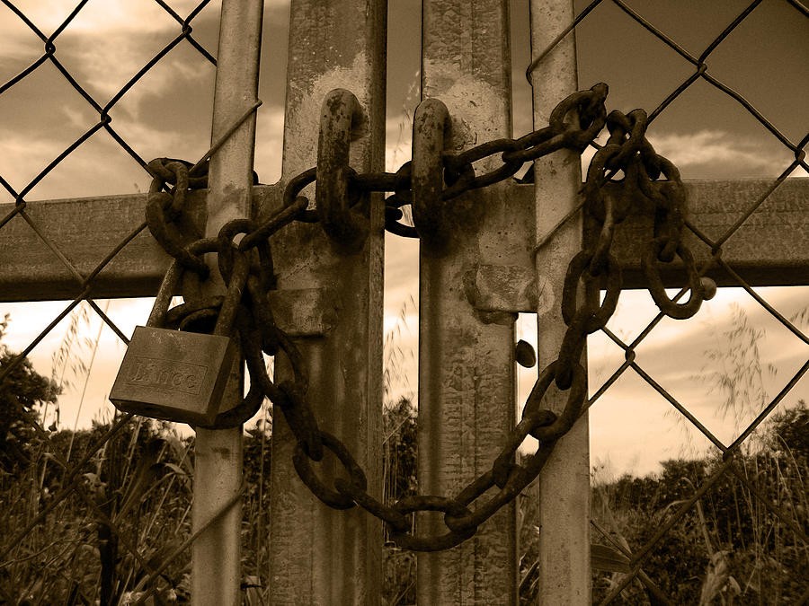 Padlock Photograph - The Grass Is Always Greener On The Other Side by Ingrid Dance