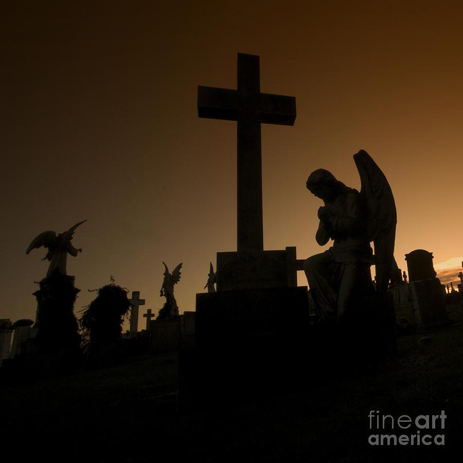 Graveyard Photograph - the Graveyard by Angel  Tarantella