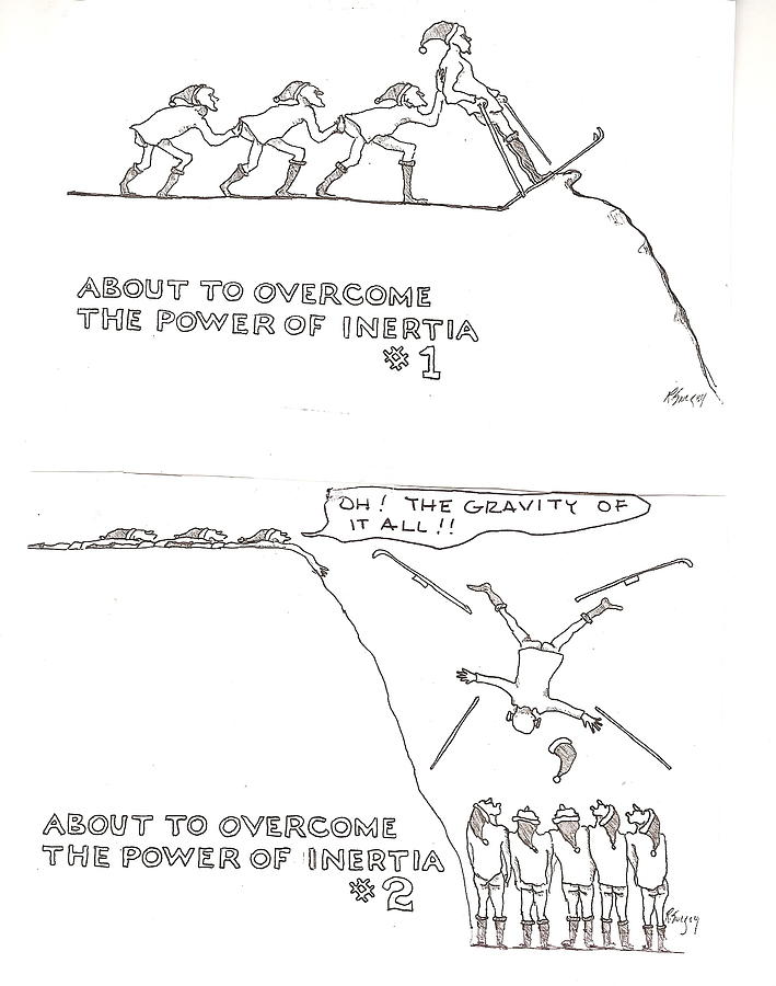 The Gravity Of It All Drawing by Roger Swezey