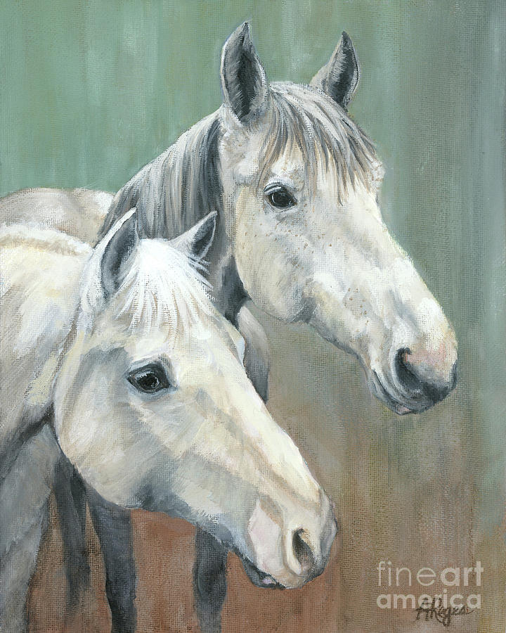 Horse Painting - The Grays - Horses by Amy Reges