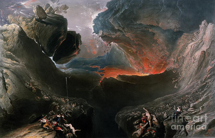 The Painting - The Great Day of His Wrath by Charles Mottram