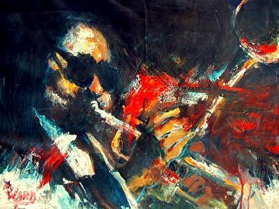 The Great Dizzy Gillespie Painting by Charlie  Ward