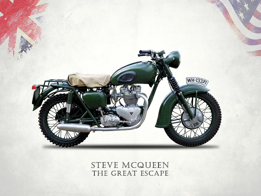 The Great Escape Photograph - The Great Escape Motorcycle by Mark Rogan