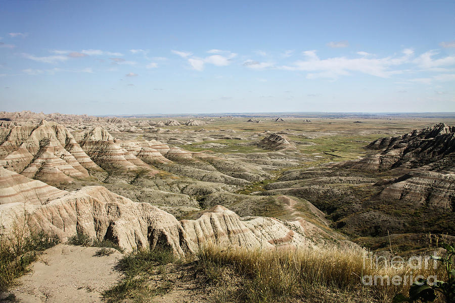 Badlands National Park Photograph - The Great Expanse by Sandy Adams