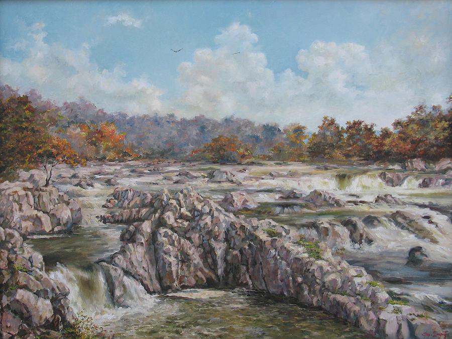 Virginia Painting - The Great Falls by Tigran Ghulyan