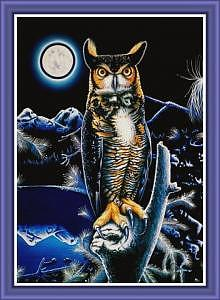Owls Painting - The Great Horned Owl by Devon  Crutcher