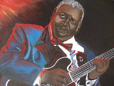 The Great Mr. B.b. King Painting by Portland Art Creations