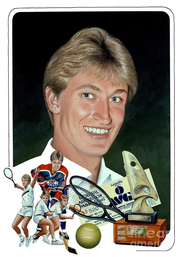 The Great One Painting - The Great One - Oiler Days by Michael Swanson