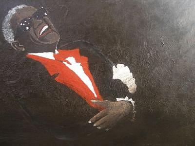 The Great Ray Charles Painting by Portland Art Creations