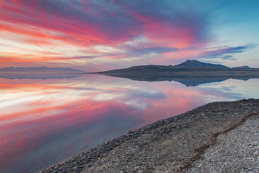The Great Salt Lake Sunrise Photograph by Daren Hill