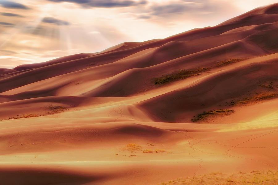 Colorado Photograph - The Great Sand Dunes Of Colorado - Landscape - Sunset by Jason Politte