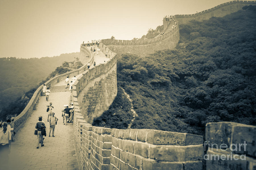 The Great Wall Photograph - The Great Wall Of China by Heiko Koehrer-Wagner