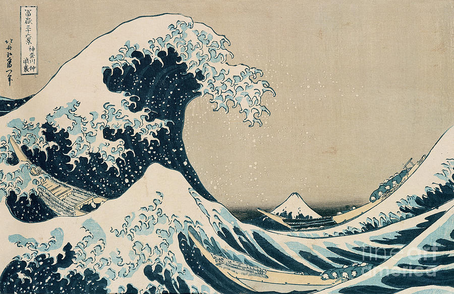 Wave Painting - The Great Wave Of Kanagawa by Hokusai